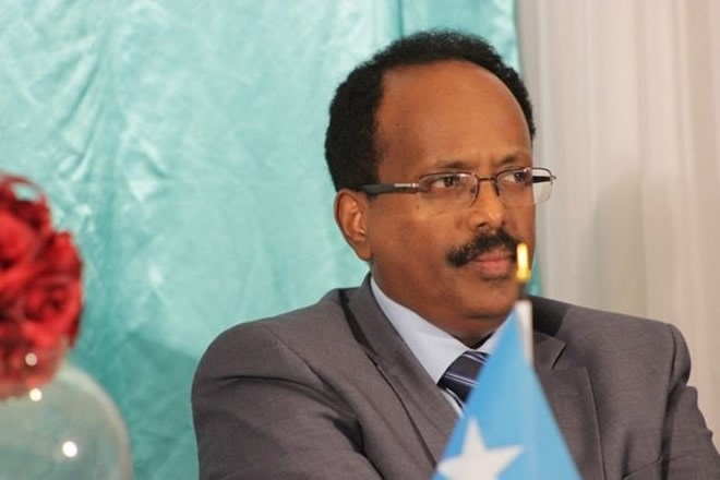 Pres. Farmajo arrives in Adado for Galmudug regional President's inauguration