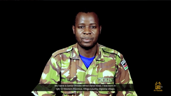 Kenyan soldier held hostage since Jan. 2016 appears in Shabaab video