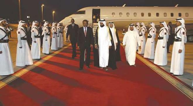 Somalia president arrives in Doha